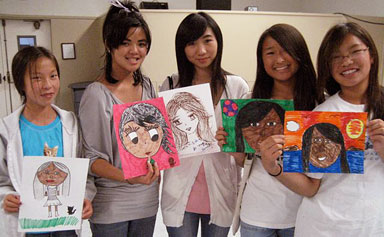 Five young artists